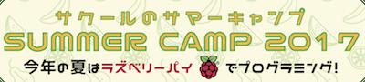 2017サマーキャンプ開催します
