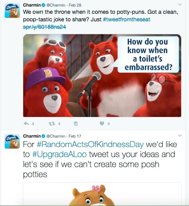 Charmin Twitter screenshot