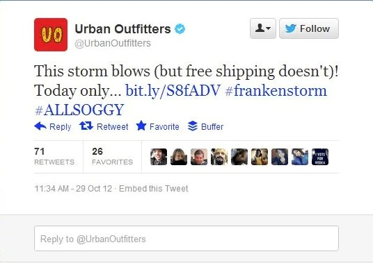 urban outfitters twitter