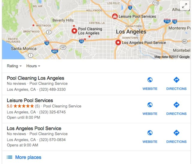 local searches on google