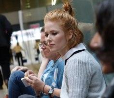 SACi students resting at the art fair