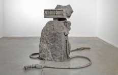 "Allora & Calzadilla ""2 Hose Petrified Petrol Pump,"" 2012, Stone, Dimensions variable"