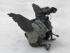"Allora & Calzadilla ""The bird of Hermes is my name, eating my wings to make me tame,"" 2010, Painted bronze, 60 x 50 x 40 cm"