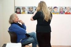 Artist Lawrence Carroll with SACI MFA Graduate
