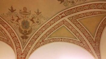 Ceiling fresco detail in SACI's Printmaking studio, Palazzo dei Cartelloni