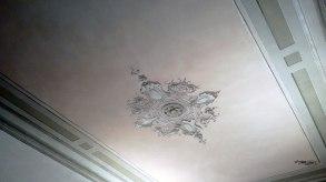 Ceiling fresco detail in SACI's student loung, Palazzo dei Cartelloni