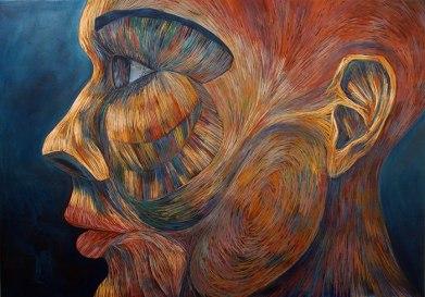 "Fadi Daoud, ""Building Spirit,"" acrylic on canvas, 2016"