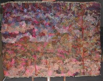 "Filipe Rocha da Silva, ""Fertility Landscape,"" Wool on textile, 59 x 76 inches, 2015"