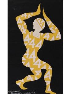 FORTUNATO DEPERO, COSTUME CIFRATO (CODED COSTUME), 1929 TEMPERA AND PENCIL ON PAPER ROVERETO, MART – MUSEO DI ARTE MODERNA E CONTEMPORANEA DI TRENTO E ROVERETO