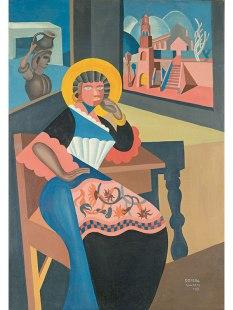 FORTUNATO DEPERO LA CIOCIARA (PEASANT WOMAN OF THE CIOCIARIA), 1919 OIL ON CANVAS TRENTO, PRIVATE COLLECTION