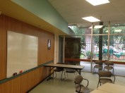 One wall of the expandable/contractable Club Room