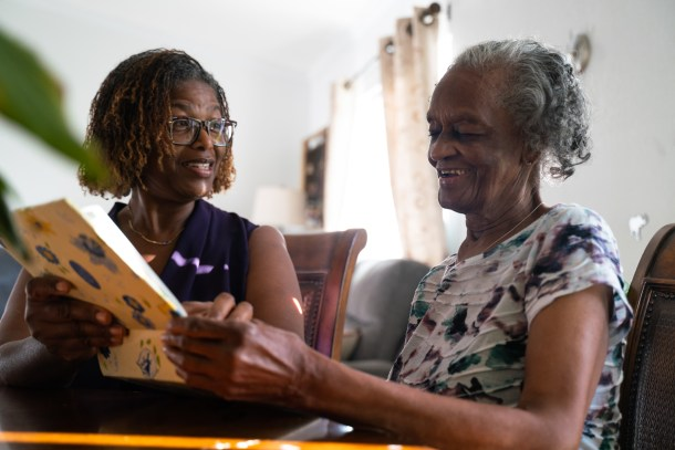 Sharon Saffold and her her mother, Julia, how is 89 and lives with dementia