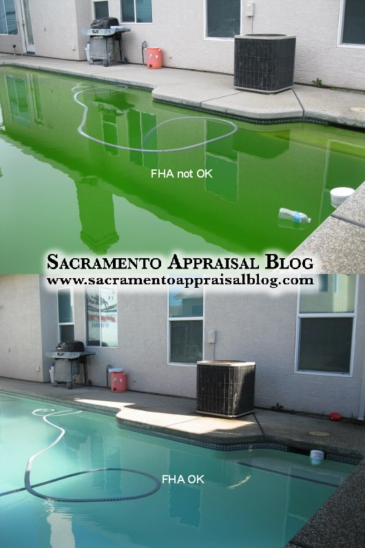green pool and FHA financing