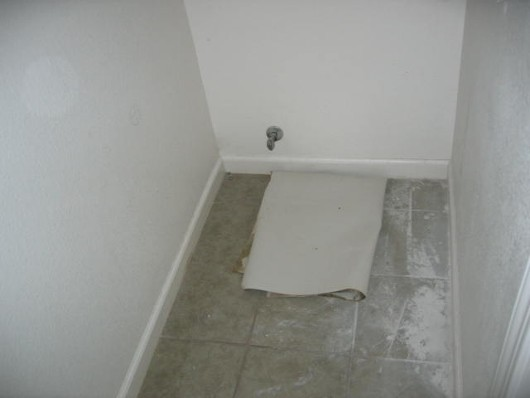 Missing toilet