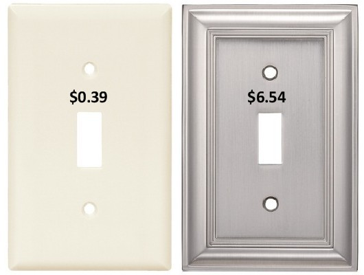 switch plates image from Sacramento Appraisal Blog - original images from Lowes.com