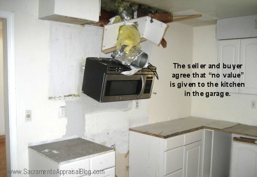 Photo of messed up kitchen - by Sacramento Appraisal Blog