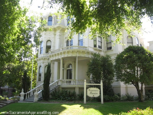 Former Govenor's Mansion in California - photo by Sacramento Appraisal Blog