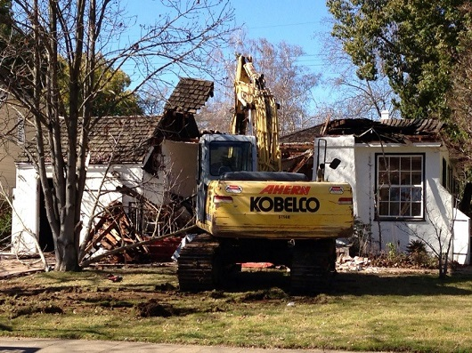 House being torn down in East Sacramento - photo by Realtor Chris Little