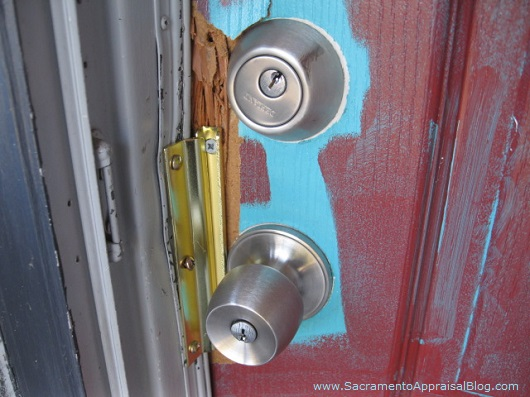 Changed lock on house - photo by Sacramento Appraisal Blog