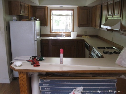 Kitchen that was remodeled that needs to be remodeled again - by Sacramento Appraisal Blog