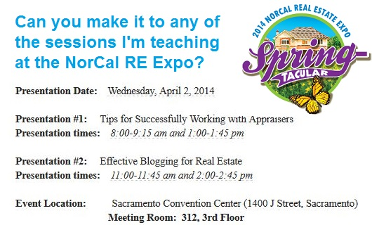 NorCal RE Expo Presentation Times