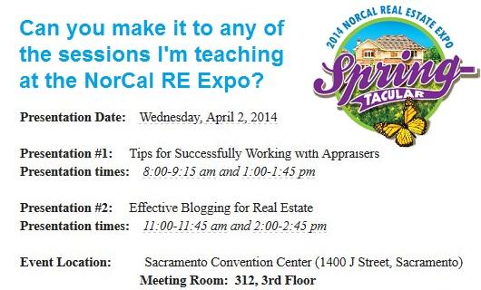 NorCal RE Expo Presentation Times