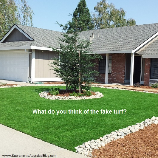 fake turf - photo by sacramento appraisal blog
