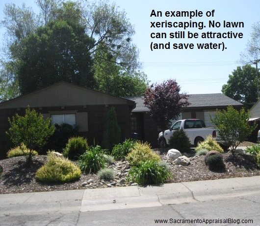 xeriscaping example in rancho cordova
