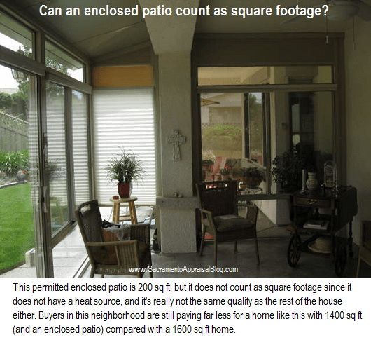 Enclosed Patio Square Footage 2   By Sacramento Appraisal Blog