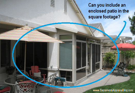 Enclosed Patio Square Footage   By Sacramento Appraisal Blog