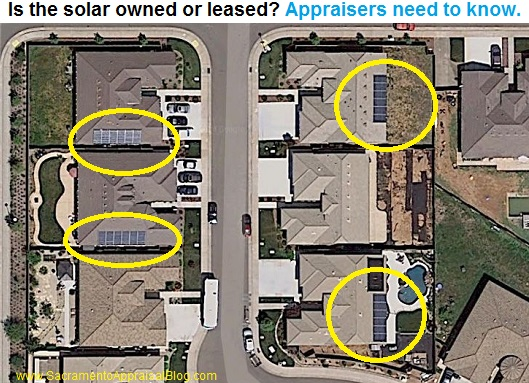 solar panels aerial view by sacramento appraisal blog