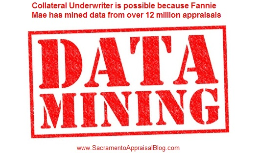Fannie Mae Collateral Underwriter - Data Mining Image Purchased and Used with Permission - by Sacramento Appraisal Blog