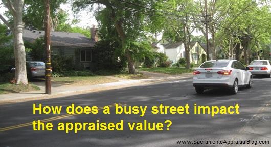 busy street in real estate appraisal