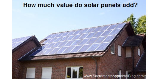 solar panels in real estate - sacramento appraisal blog - image purchased and used with permission from 123rf - 2