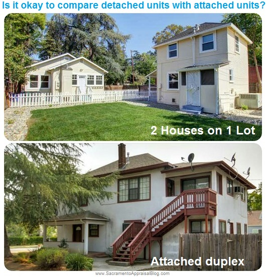 attached duplex vs detached duplex - sacramento appraisal blog