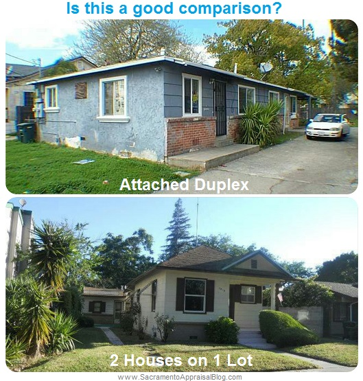 duplex comparison by sacramento appraisal blog