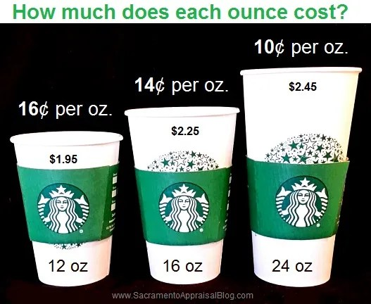 Starbucks cups and real estate - by sacramento appraisal blog