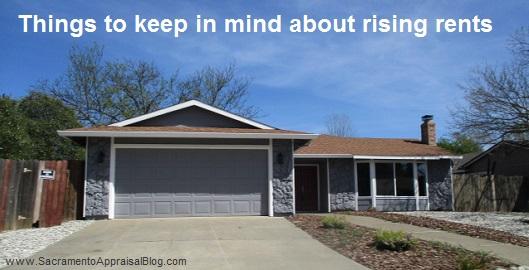 rising rents in sacramento - by greater sacramento area appraisal blog