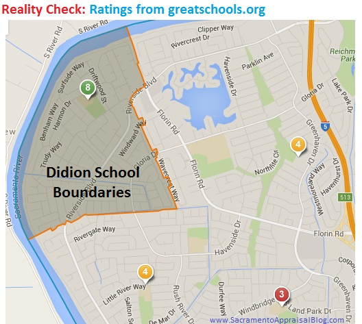 Ratings from Great Schools and Real Estate - by Sacramento Appraiser Blog