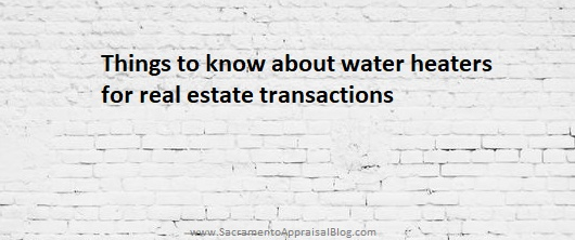 Things to know about water heaters during real estate transactions