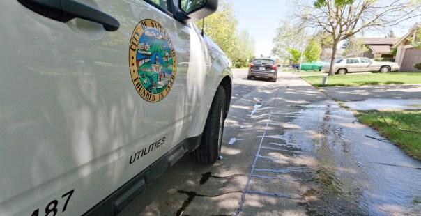 Department of Utilities vehicle