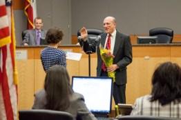 Council Member Jay Schenirer, Vice Mayor, is sworn into office.