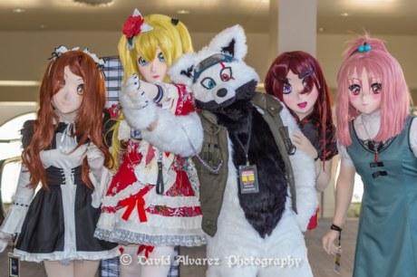 Winter SacAnime cosplayers