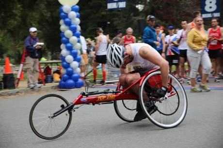 Athlete Starting the Run