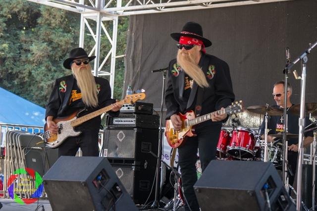 ZZ Top Fandango performing at the Sacramento County Fair.