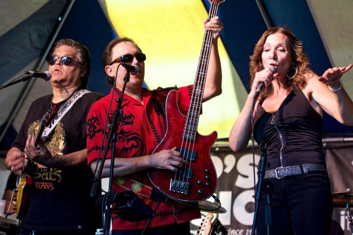 Santana tribute band Rhythm Vandals at the Freeway Gardens Sunday afternoon