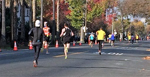 Runners at California International Marathon