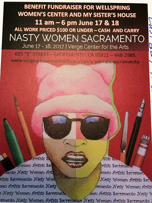 Picture of Nasty Women Sacramento Art Exhibit Flyer