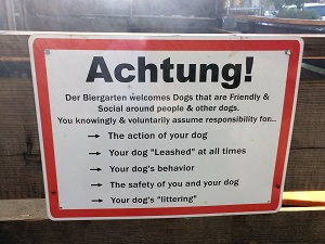 Picture of Der Biergarten Dog Rules