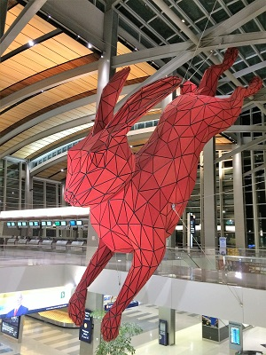 Picture of Leap - public art at the Sacramento International Airport